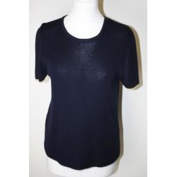 Pull en laine bleu marine