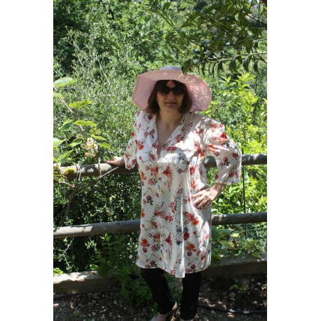Robe loopes a fleurs