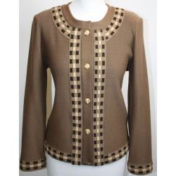 veste en laine persan et alcantara