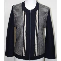veste en laine avec fermeture éclair