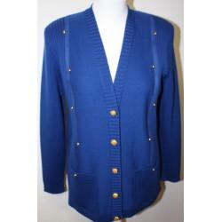 veste en laine décoration alacantara