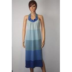 robe dos nu dégradé de bleu