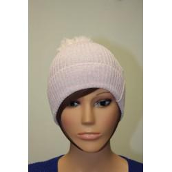 Bonnet en lamé coloris rose