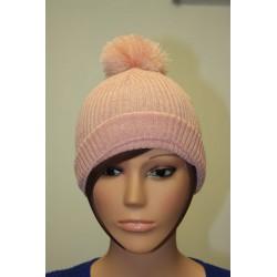 Bonnet en lamé coloris rose 2472