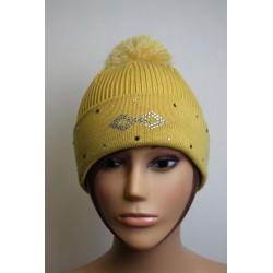 Bonnet en laine et strass - Losange 2