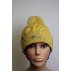 Bonnet en laine et strass - Losange 3