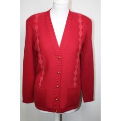 veste en laine pasteque